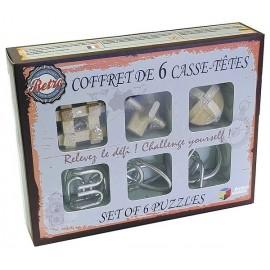 COFFRET RETRO 6 CASSE TETES BOIS ET METAL-LiloJouets-Magasins jeux et jouets dans Morbihan en Bretagne