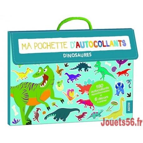 POCHETTES AUTOCOLLANTS DINOSAURES-jouets-sajou-56