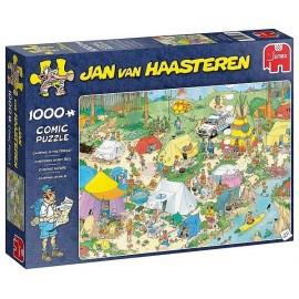 PUZZLE CAMPING NATURE COMIC 1000 PIECES-LiloJouets-Magasins jeux et jouets dans Morbihan en Bretagne