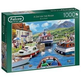 PUZZLE UN JOUR SUR LA RIVIERE 1000 PIECES-LiloJouets-Magasins jeux et jouets dans Morbihan en Bretagne