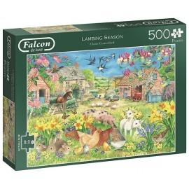 PUZZLE FERME LAMBING SEASON 500 PIECES XL-LiloJouets-Magasins jeux et jouets dans Morbihan en Bretagne