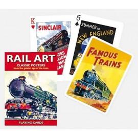 JEU 54 CARTES TRAIN ET RAIL ARTISTIQUE-LiloJouets-Magasins jeux et jouets dans Morbihan en Bretagne