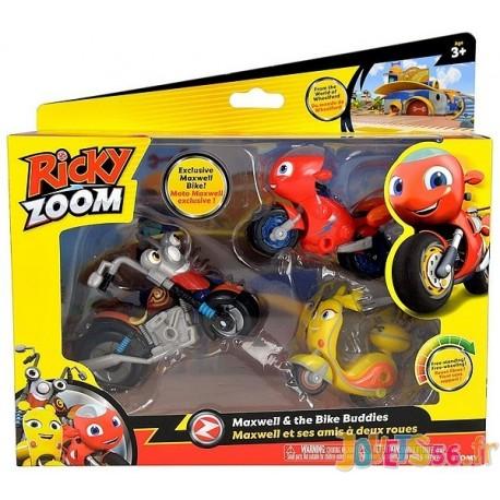 PACK 3 MOTOS MAXWELL ET SES AMIS 2 ROUES RICKY ZOOM-LiloJouets-Magasins jeux et jouets dans Morbihan en Bretagne