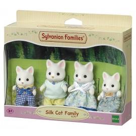 FAMILLE CHAT SOIE SYLVANIAN FAMILIES
