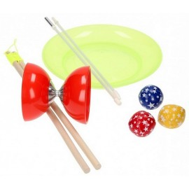 SET JONGLERIE JUNIOR BALLE DIABOLO ASSIETTE ACROBAT