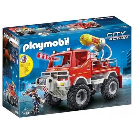 9466 CAMION 4X4 POMPIER ET LANCE EAU PLAYMOBIL CITY ACTION