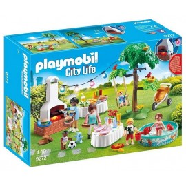 9272 FAMILLE ET BARBECUE ESTIVAL PLAYMOBIL CITY LIFE