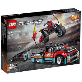42106 SPECTACLE DE CASCADES CAMION ET MOTO LEGO TECHNIC