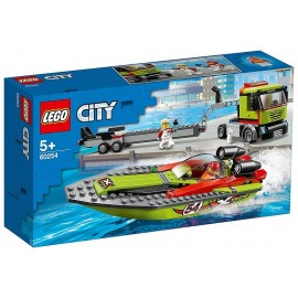 60254 LE TRANSPORT DU BATEAU DE COURSE LEGO CITY