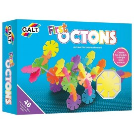OCTONS FIRST JEU CONSTRUCTIONS 48 PIECES OCTOGONALES NEONS