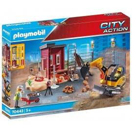 70443 MINI PELLETEUSE ET CHANTIER PLAYMOBIL CITY ACTION