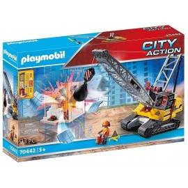 70442 DRAGLINE AVEC MUR DE CONSTRUSTION PLAYMOBIL CITY ACTION