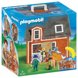 4142 FERME TRANSPORTABLE PLAYMOBIL COUNTRY