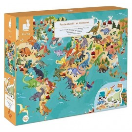 PUZZLE EDUCATIF LES DINOSAURES 200 PIECES