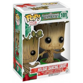 FIGURINE POP 101 GROOT DANSANT NOEL GARDIENS DE LA GALAXIE 10CM BOBBLE-HEAD