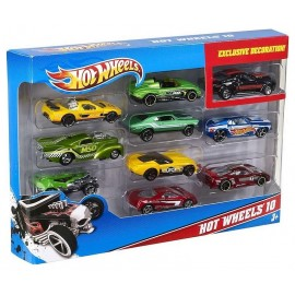 COFFRET 10 VOITURES HOT WHEELS ASST