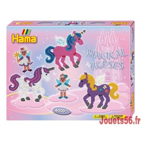 LES CHEVAUX MAGIQUES PERLES HAMA MIDI -jouets-sajou-56