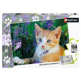 PUZZLE CHATON ROUX LAVANDE 150 PIECES