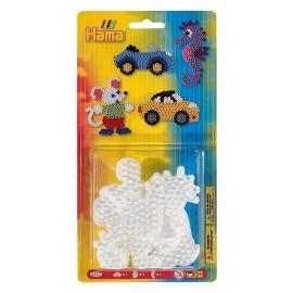3 PLAQUES VOITURE SOURIS HIPPOCAMPE PM HAMA-jouets-sajou-56