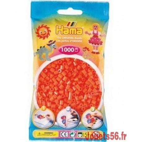 SACHET 1000 PERLES HAMA ORANGE-jouets-sajou-56
