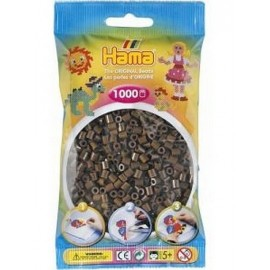 SACHET 1000 PERLES HAMA MARRON   -jouets-sajou-56