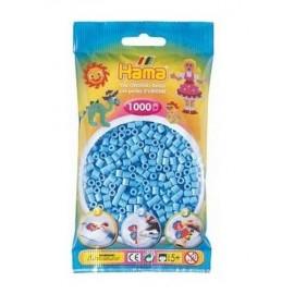 SACHET 1000 PERLES HAMA BLEU PASTEL-jouets-sajou-56