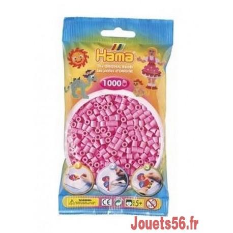 SACHET 1000 PERLES HAMA ROSE PASTEL   -jouets-sajou-56