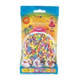 SACHET 1000 PERLES HAMA PASTEL MIX   -jouets-sajou-56