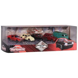 PACK 5 VEHICULES VINTAGE RUSTY 1.64E METAL