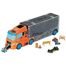 CAMION DE TRANSPORT 40CM AVEC 3 VOITURES HOT WHEELS