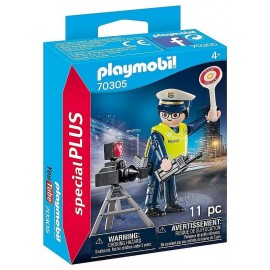 70305 POLICIER AVEC RADAR PLAYMOBIL SPECIAL PLUS-LiloJouets-Morbihan-Bretagne