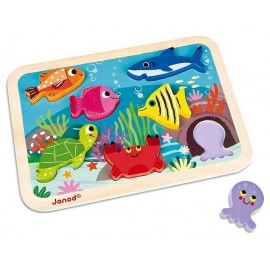 CHUNKY PUZZLE ANIMAUX MARINS BOIS