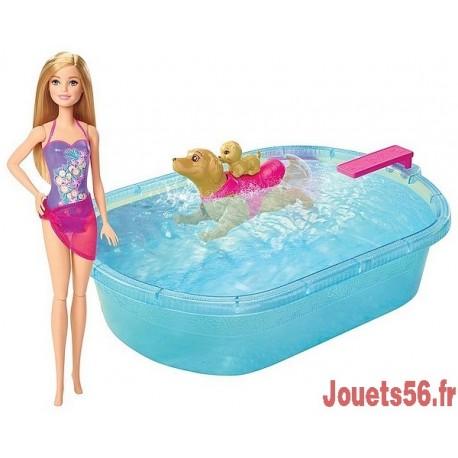 BARBIE BAIGNADE DES CHIENS-jouets-sajou-56