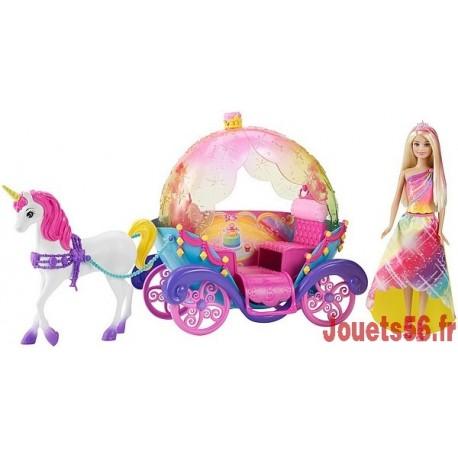 CARROSSE BARBIE ARC EN CIEL-jouets-sajou-56