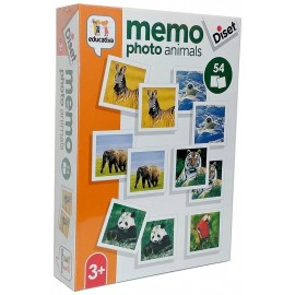 JEU MEMO PHOTO ANIMAUX V2 54 PIECES