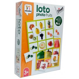 JEU LOTO PHOTO FRUITS 36 CARTES