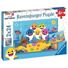 PUZZLE BABY SHARK 2X24 PIECES