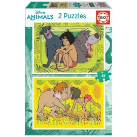 PUZZLE LIVRE DE LA JUNGLE 2X48 PIECES
