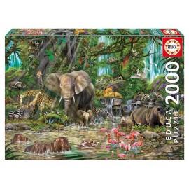 PUZZLE JUNGLE AFRICAINE 2000 PIECES