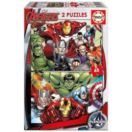 PUZZLE SUPER HEROS AVENGERS 2X48 PIECES
