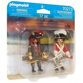 70273 PACK DUO CAPITAINE PIRATE ET SOLDAT PLAYMOBIL -LiloJouets-Morbihan-Bretagne