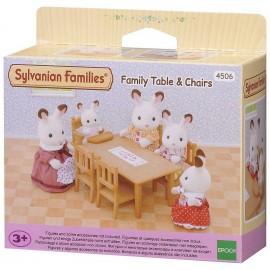TABLE ET CHAISES DE REPAS SYLVANIAN FAMILIES