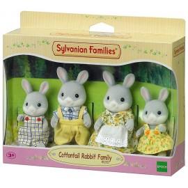 FAMILLE LAPIN GRIS SYLVANIAN FAMILIES