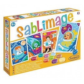 SABLIMAGE GALAXIE COFFRET 4 TABLEAUX 25X18CM