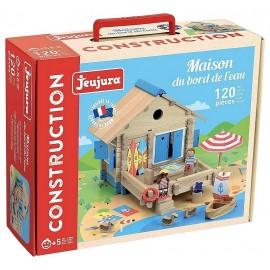 CONSTRUCTION MAISON AU BORD DE L'EAU EN BOIS 120 PIECES