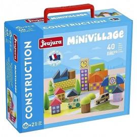 BOITE MINIVILLAGE 40 BLOCS DE CONSTRUCTION EN BOIS