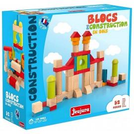 BOITE BLOCS DE CONSTRUCTION 52 PIECES EN BOIS