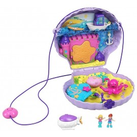 COQUILLAGE ENCHANTE MICRO POLLY POCKET SAC A MAIN BANDOULIERE-LiloJouets-Morbihan-Bretagne