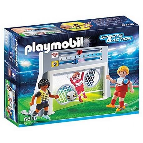 6858 CAGE DE TIR AU BUT AVEC FOOTBALLEURS-jouets-sajou-56