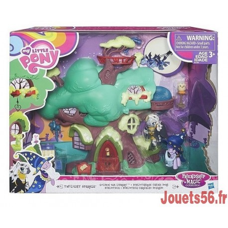 LA BIBLIOTHEQUE DE GOLDEN OAK MY LITTLE PONY TWILIGHT-jouets-sajou-56
